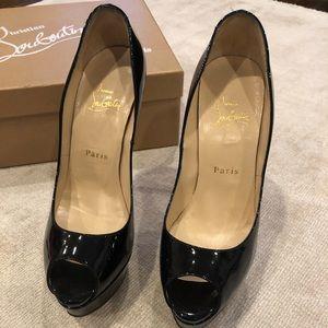 Christian Louboutin Lady Peep Heels size 38